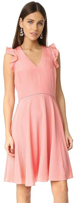 Rebecca Taylor Pink Women's Sleeveless Silk Ruffle Peach 0 Mid-length Short Casual Dress Size 0 (XS) Rebecca Taylor Pink Women's Sleeveless Silk Ruffle Peach 0 Mid-length Short Casual Dress Size 0 (XS) Image 1