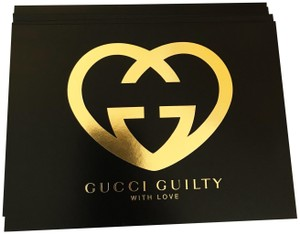 Gucci New Gucci Guilty Black White and Gold Stationary /Collectible Card Set