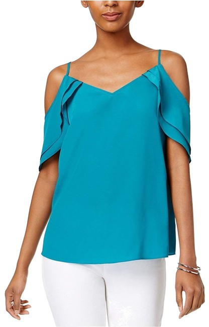Item - Blue/Green Iii Womens Off-the-shoulder Adjustable Straps M Tank Top/Cami Size 8 (M)