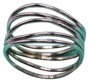 Tiffany & Co. Elsa Peretti 5 Row Wave Ring in 18K White Gold Size 8.75