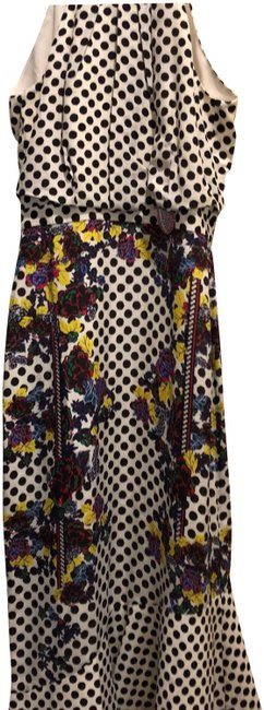Item - Black White Floral Multi Color Ruby with Bug 1517 Silk Crepe De Chine Polka Dot And Mid-length Cocktail Dress Size 2 (XS)