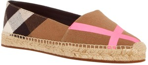 Burberry Espadrille Pink Brown classic check Flats