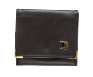 Alfred Dunhill Dunhill Black Leather Small Coin Wallet Case