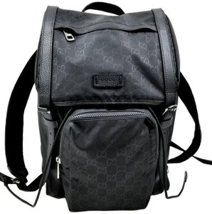 e09d11080c8 Gucci Unisex Men s Women s Made In Italy Backpack · Gucci. Drawstring Black  Nylon  Leather Backpack