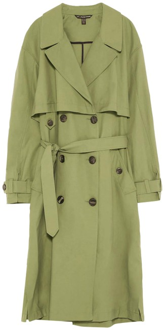 Item - Olive Green Double Breasted Coat Size 8 (M)