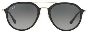 Ray-Ban Ray-Ban Black | Gold New Petite Aviator - Rb 4253 601/71 Plastic Front Aviator Sunglasses