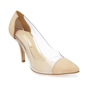 Arezzo Heels Crystal Beige and Transparent Pumps