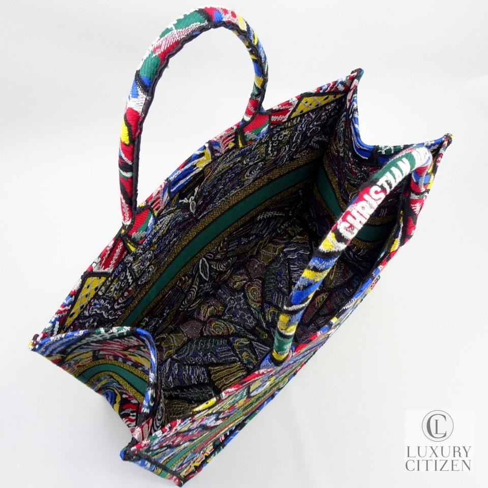 Dior Louis Vuitton Book Butterfly Canvas Embroidered Tote in Multi.  1234567891011 720c2be5f6076