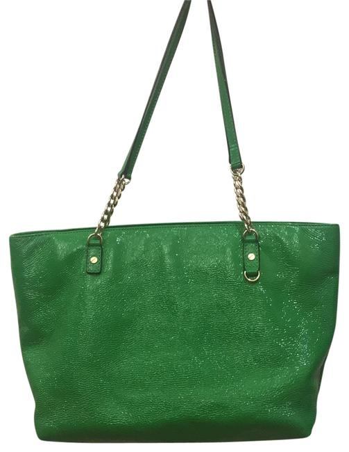 Item - Green Patent Leather Tote