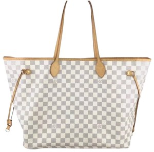2c43eb6005d6c Louis Vuitton Neverfull Gm Damier Azur Leather Tote - Tradesy