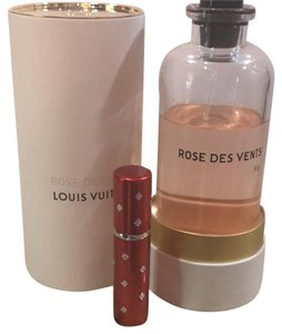 Louis Vuitton red Rose Des Vents Perfume 5ml Purse Travel In A Atomizer Fragrance