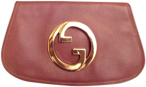 Gucci Blondie Double Gg Tan Brown Clutch