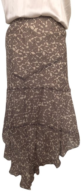 Item - Taupe Print Silk Lined Skirt Size 8 (M, 29, 30)