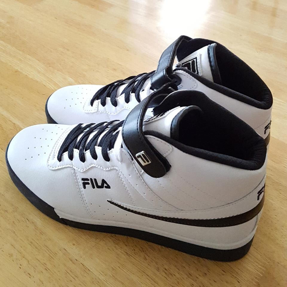 Fila White Men's Vulc 13 Mid Plus Sneakers Size US 10 Regular (M, B)