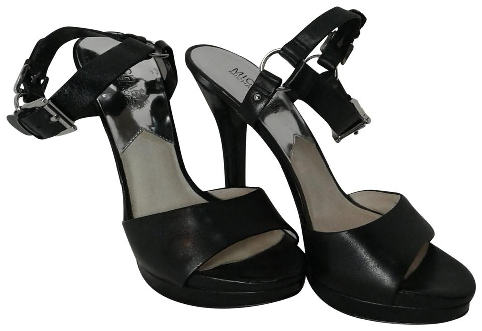 fb6ad0647ee Michael Kors Black Leather Platform Sandals Size US 9 Regular (M