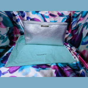 Tiffany & Co. New Tiffany Co Metallic Silver Large Pouch