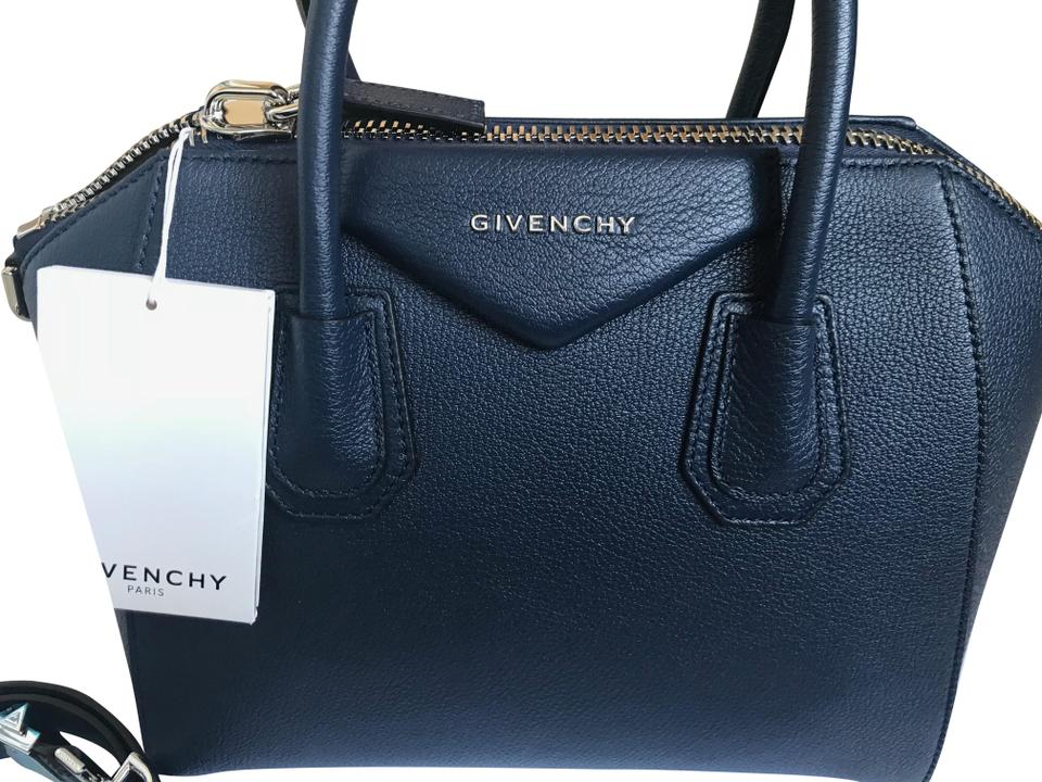 cedd5e5966 Givenchy Antigona Small Night Blue Navy Leather Tote - Tradesy