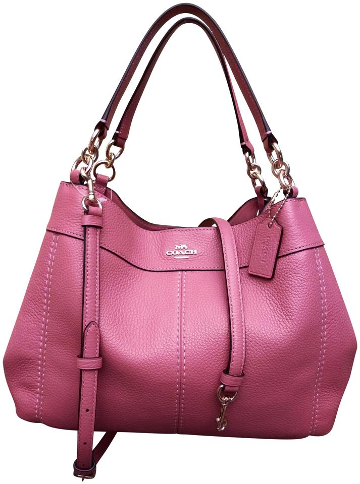 3d38f65d Coach Lexy Small Peony Pink Leather Shoulder Bag 44% off retail