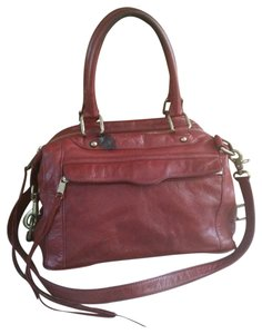 Rebecca Minkoff Mab Satchel Leather Tote in red