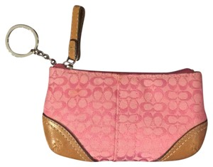 Coach Coach Jacquard Fabric Coin Purse