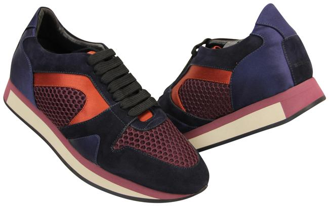 Item - Multicolor The Field Russet Red Suede/Mesh/Satin/Leather Lace Up Sneakers Size EU 38 (Approx. US 8) Regular (M, B)