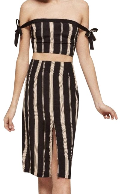 Item - Black and Tan Gramercy In Casbah Mid-length Night Out Dress Size 4 (S)