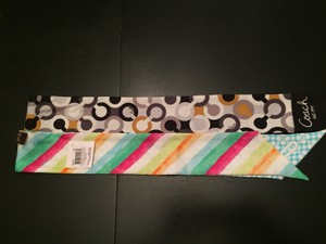 Coach Coach watercolor and optic ponytail scarves