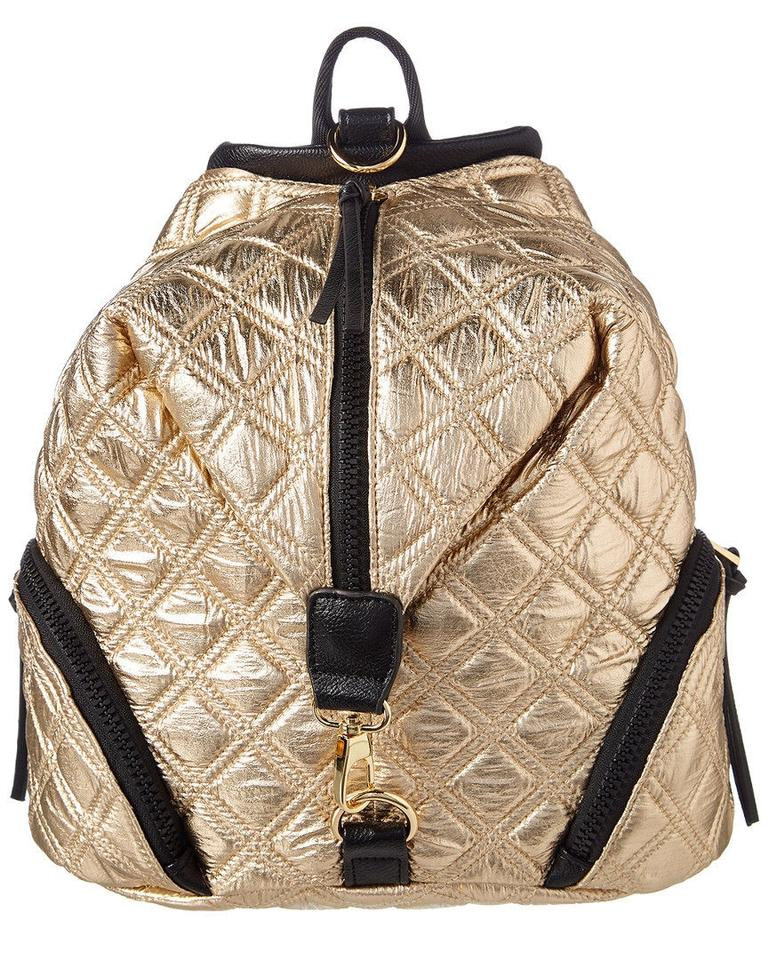 f077feb28d2 Sondra Roberts Sr Squared By Designer Quilted Gold Black Nylon Backpack 58%  off retail