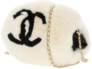 Chanel Muff Hand Warmer Limited Edition Off White Clutch
