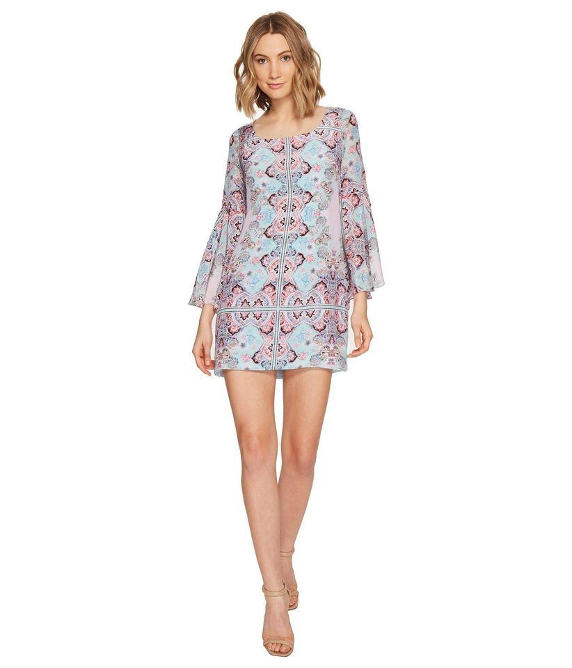 Nanette Lepore Blue Womens Stargazer Shift Casual Dress