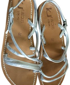 K. Jacques Leather silver Sandals