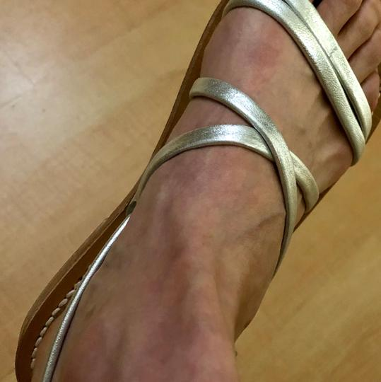 K. Jacques Leather silver Sandals Image 3