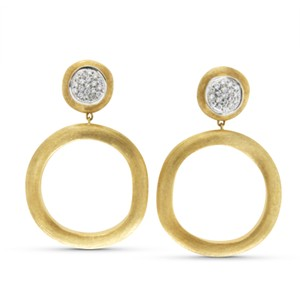 Marco Bicego Marco Bicego 18K Yellow Gold Diamond Jaipur Links Earrings
