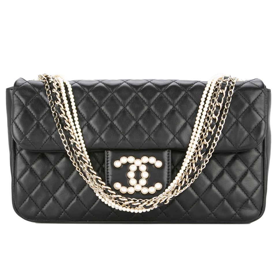 Chanel Classic Flap Westminster Pearls Limited Edition Shoulder Bag ... 9007d5e5ebb8e