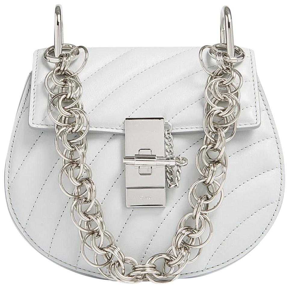 011df9b2330 Chloé Drew Bijou Small Grey Quilted Leather Cross Body Bag - Tradesy