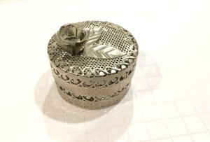 Etched Metal Handmade Cylinder / Box Decoration