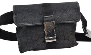 Gucci Monogram Pouch Waist Fanny Black Travel Bag