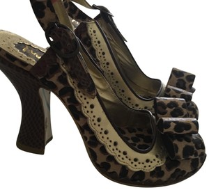 Irregular Choice Animal Print/Gold Pumps