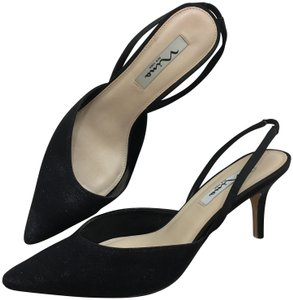 be2a698395 Nina Shoes Formal Slingback Comfortable Sexy Sparkle Black Pumps