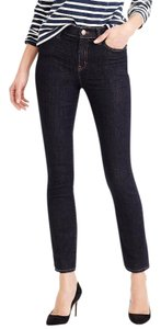 J.Crew Mid Rise Size 27 Cropped Skinny Jeans-Dark Rinse