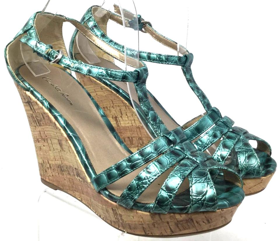 8bef0360839 Green Russe Women s Sandals Ankle Strap Wedges Size US 8.5 Regular ...