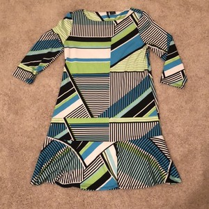 New Directions short dress Black, White, Green and Blue on Tradesy