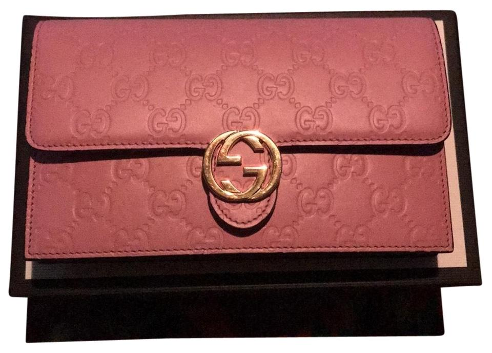 69ee72f0005c Gucci Guccissima Icon Signature Wallet Light Pink Cross Body Bag ...
