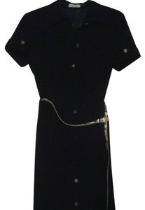 Calvin Klein Military Design Cap Sleeve Shift Dress