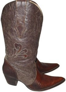 Dan Post Boots Western Cowgirl Lizard brown Boots