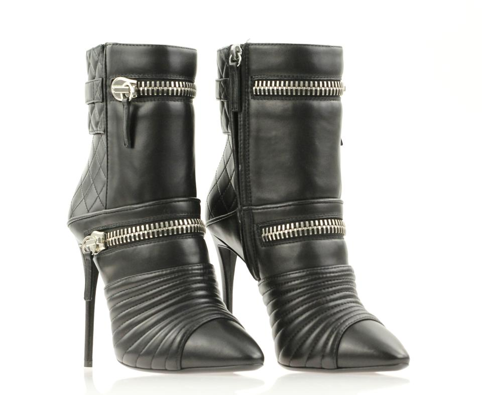 cf03b8a82f3 Giuseppe Zanotti Black Olinda 110 Double Zip Ankle Boots Booties Size EU 38  (Approx. US 8) Regular (M