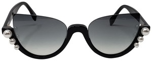 Fendi Black acetate Fendi Ribbons & Pearls sunglasses