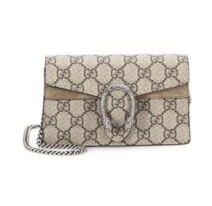 f738a31b5e1 Added to Shopping Bag. Gucci Shoulder Bag. Gucci Dionysus New Gg Supreme Mini  Chain Taupe Leather ...