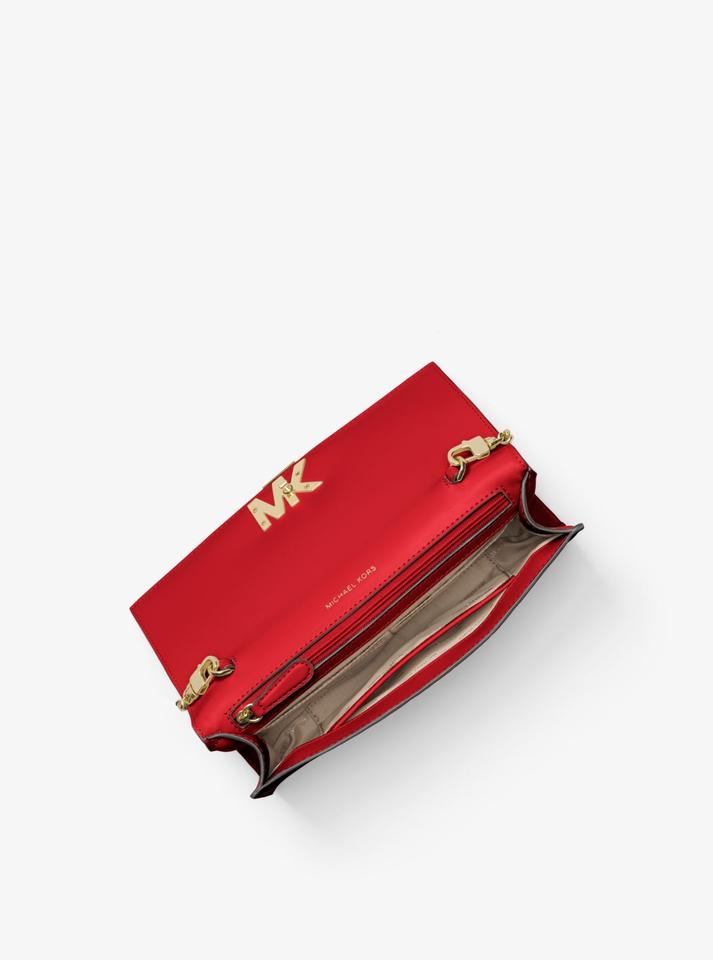 8ad3f33e80a389 Michael Kors Wallet Leather 30s8goxc7l Wristlet in Bright Red Image 2. 123