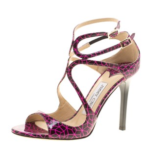 Jimmy Choo Patent Strappy Leather Pink Sandals